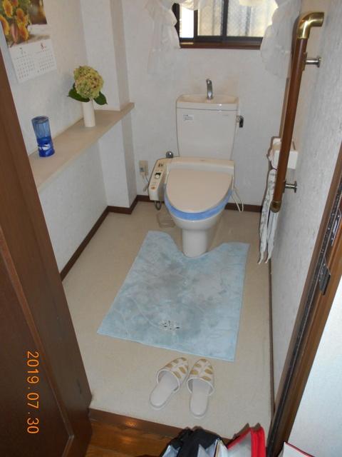 工事前のトイレです。