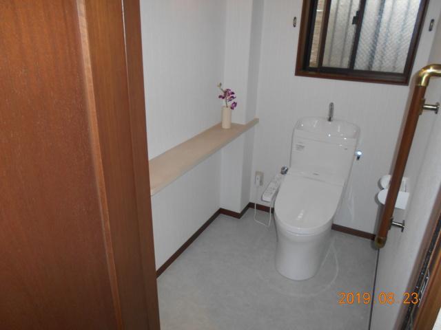 工事後のトイレです。