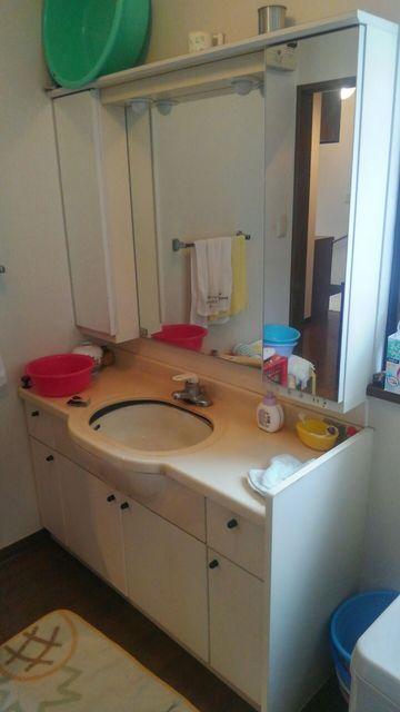 洗面台 工事前
