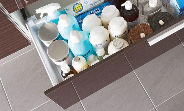 洗面化粧台の収納